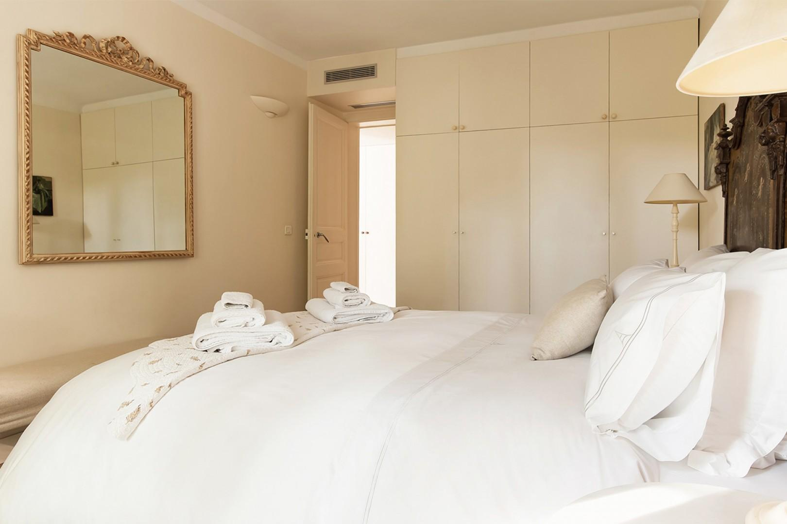 Large closets provide lots of extra storage space.