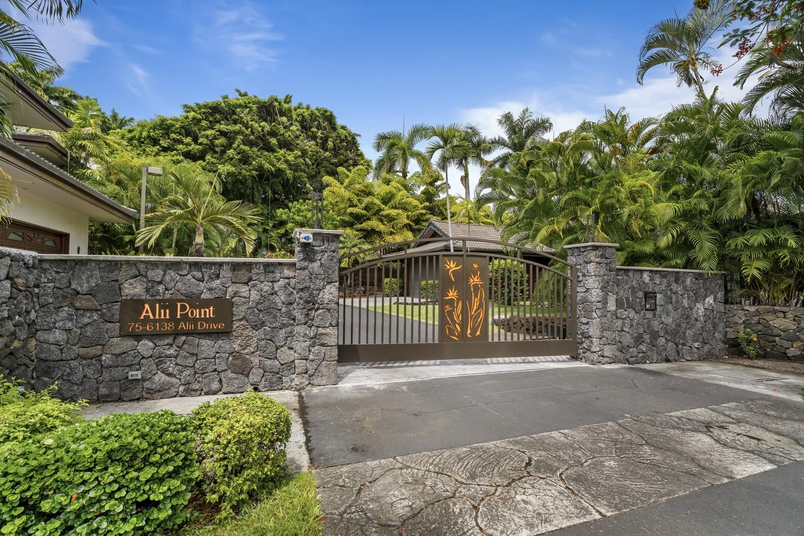 Gated entry of the Alii Point Complex