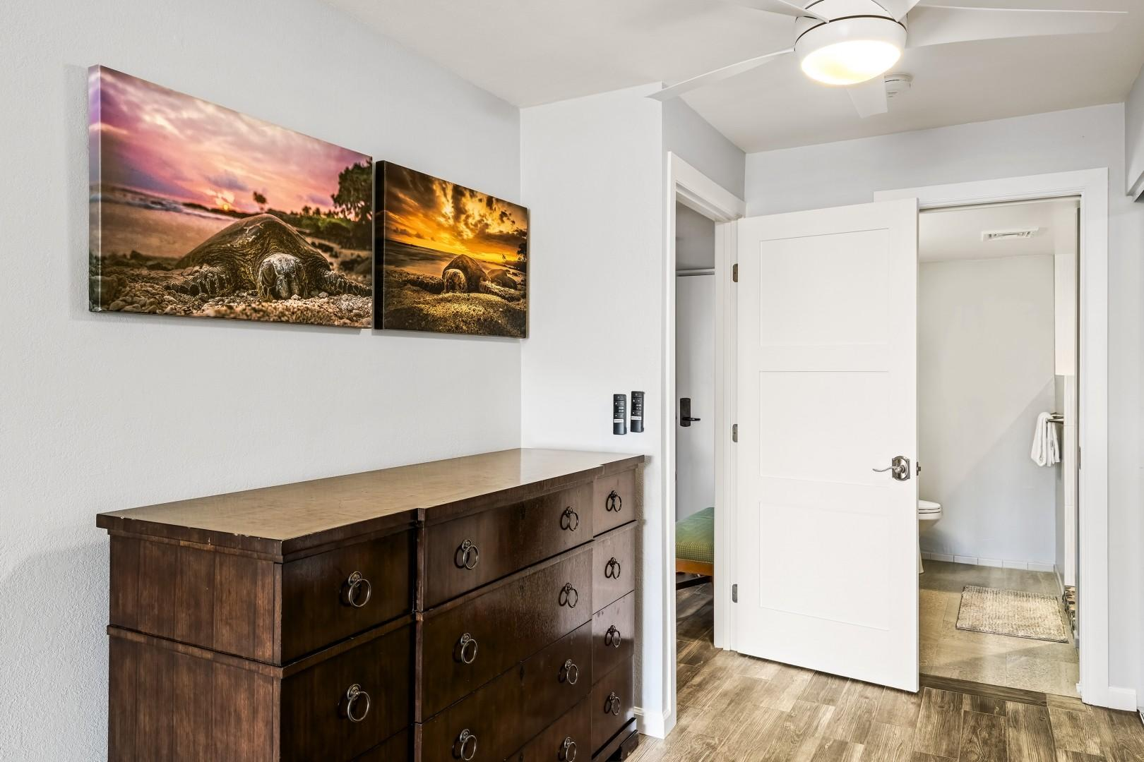 Bedroom entry and dresser