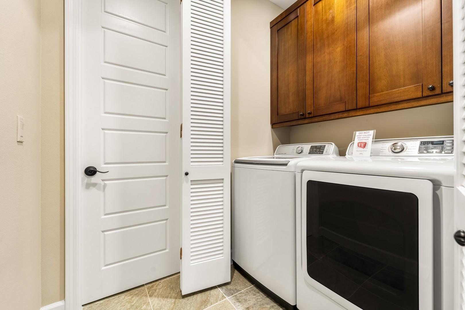 Full sized laundry in the home