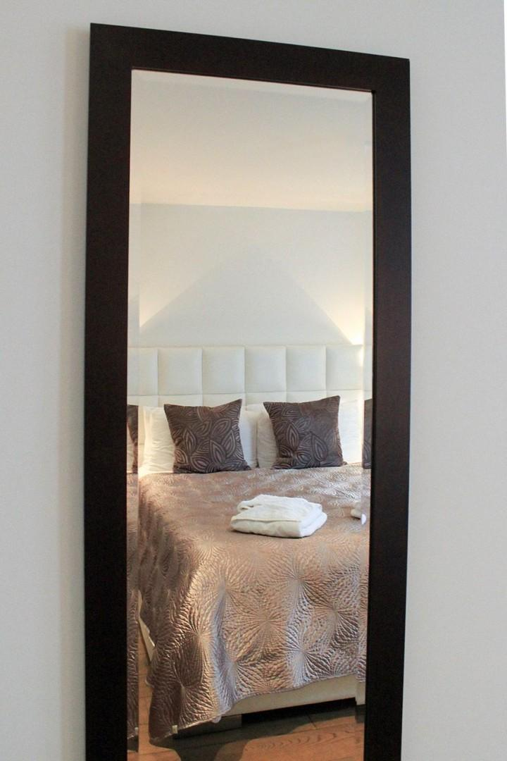 Long mirror in the first bedroom makes getting ready a breeze!