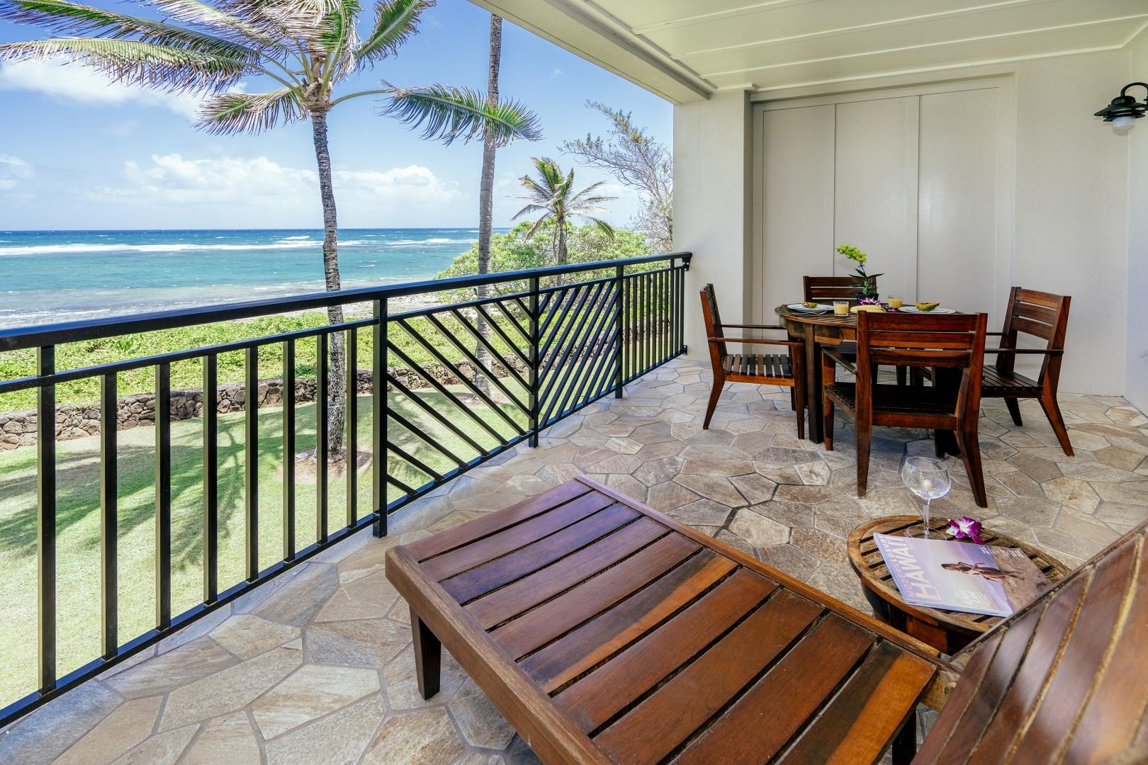 Serene ocean view from the lanai.