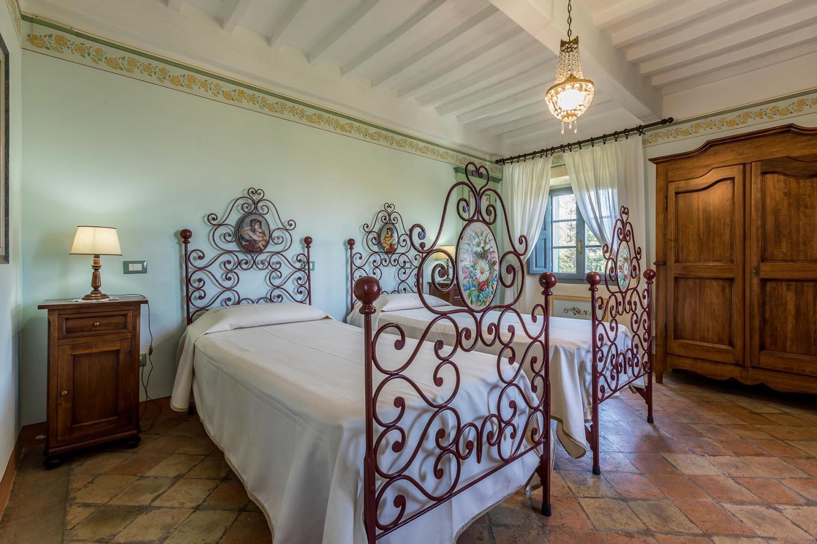 Bedroom 2 has two beds and en suite bathroom.