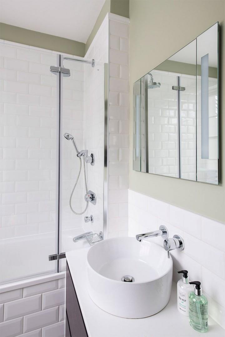 Clean and stylish bathroom