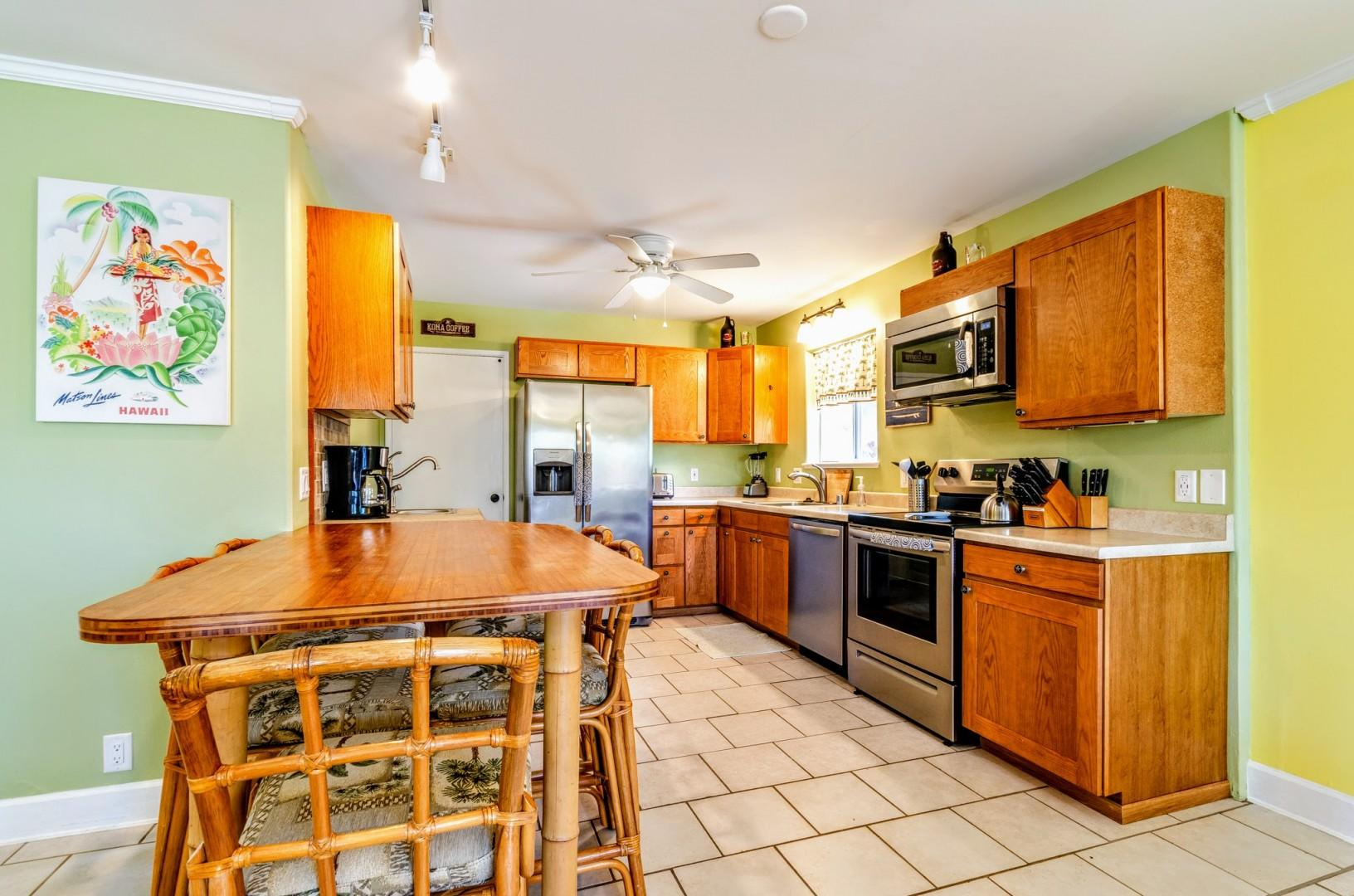 Spacious kitchen for your meal preparation needs