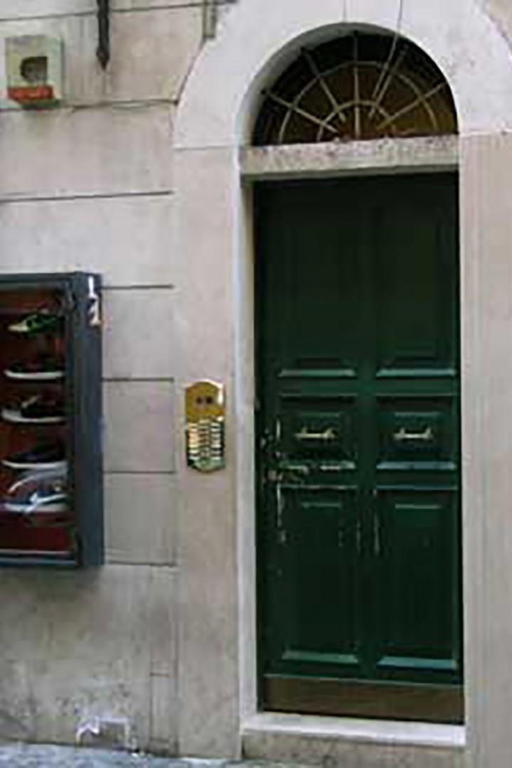 Front door of Bellina building.