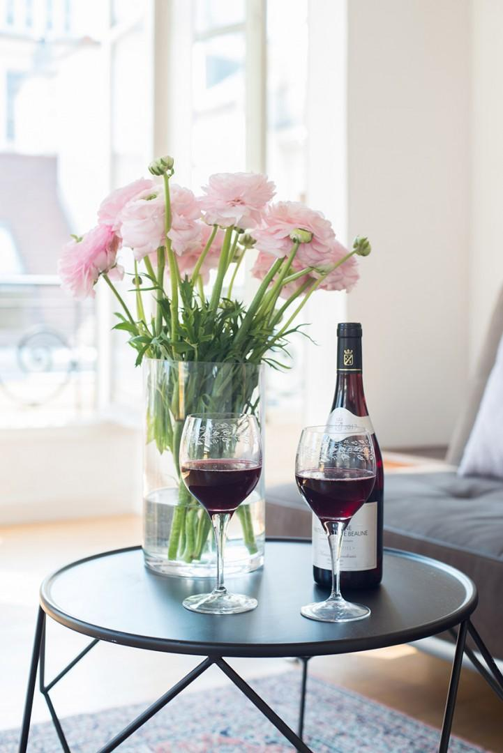Relax with a glass of wine after a day of exploration.