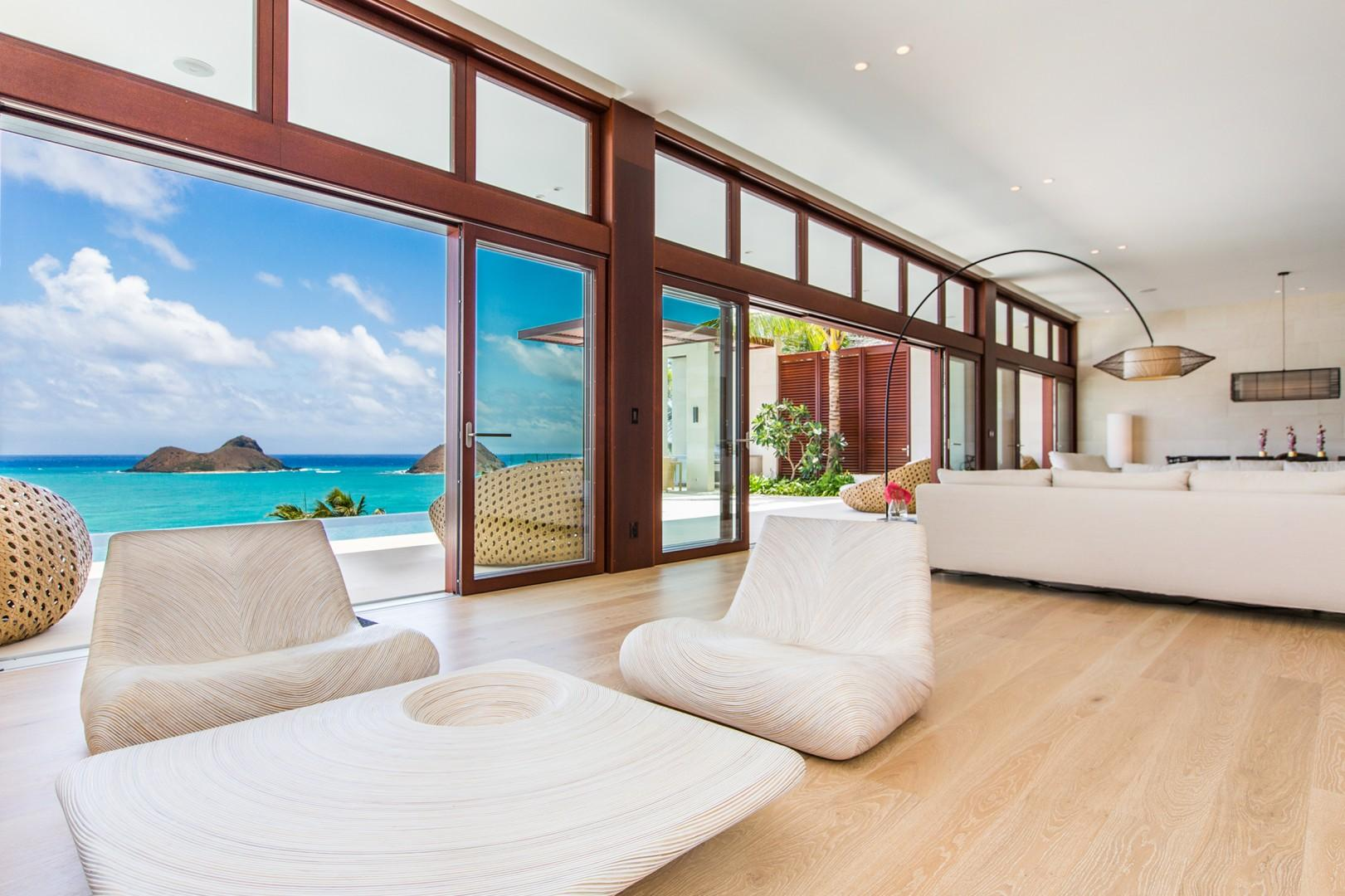 Living Room with views from every angle