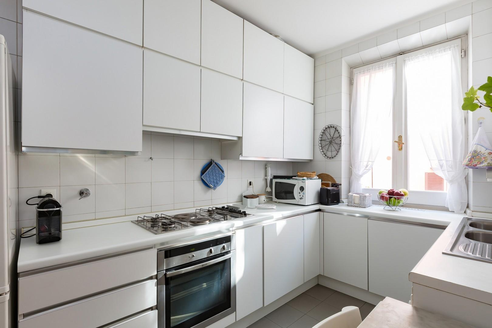 A full, working kitchen is at your disposal. Maid service can be arranged with advance notice.