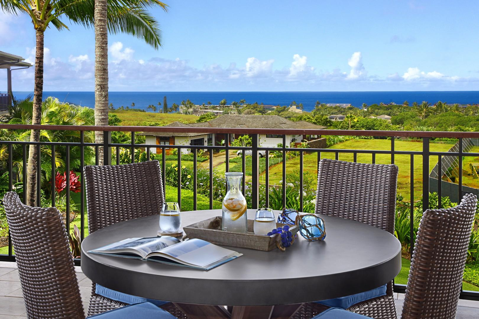Relax on the lanai with amazing ocean views