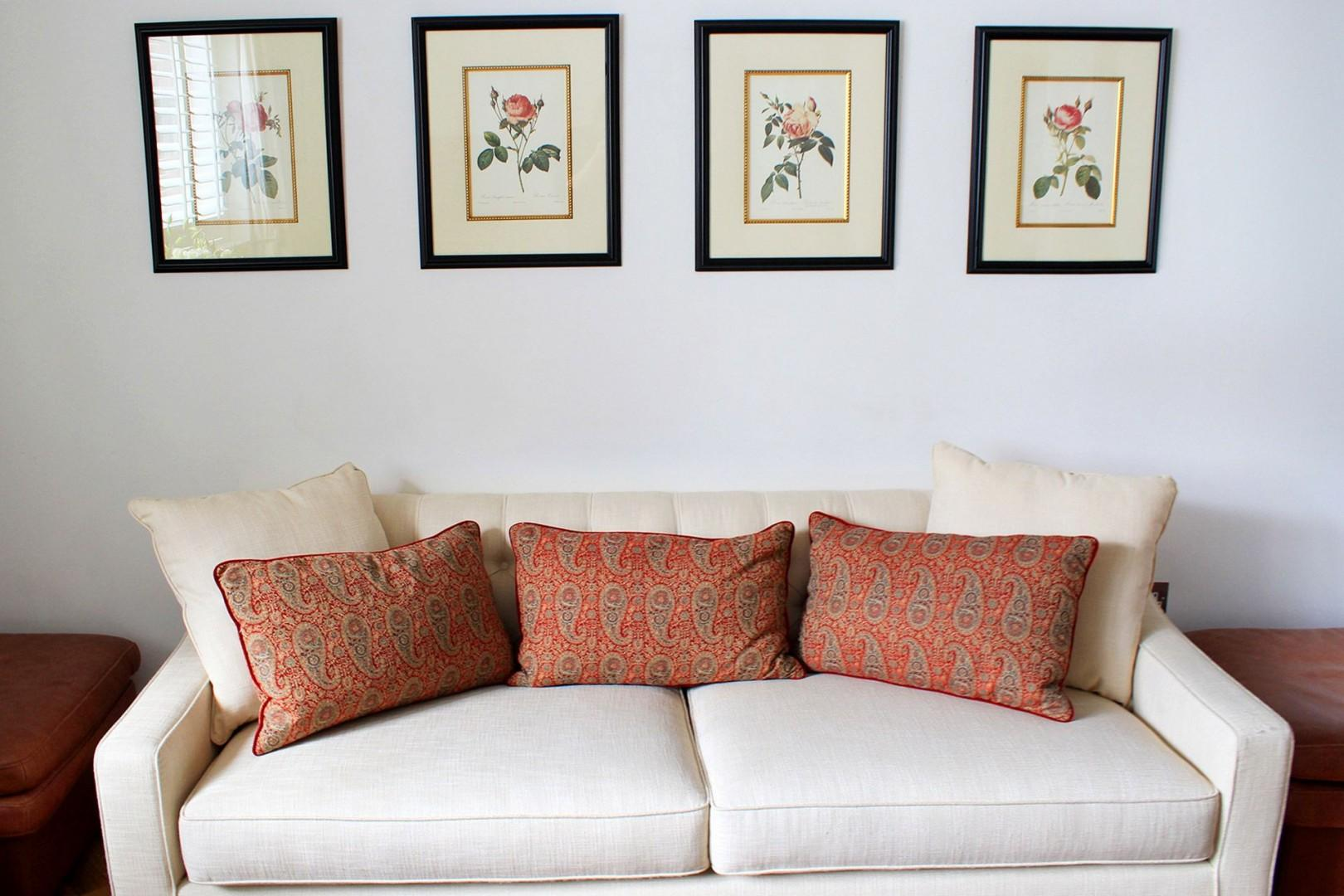 Unwind at the end of a long day on the comfortable sofa