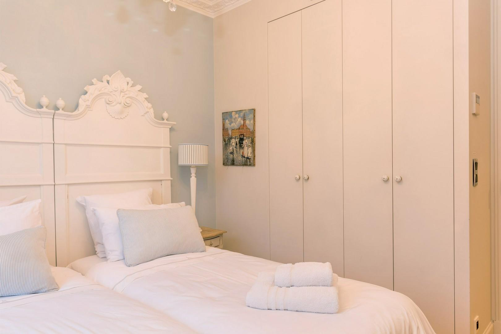 Large built-in closets in bedroom 2 have plenty of space for your belongings