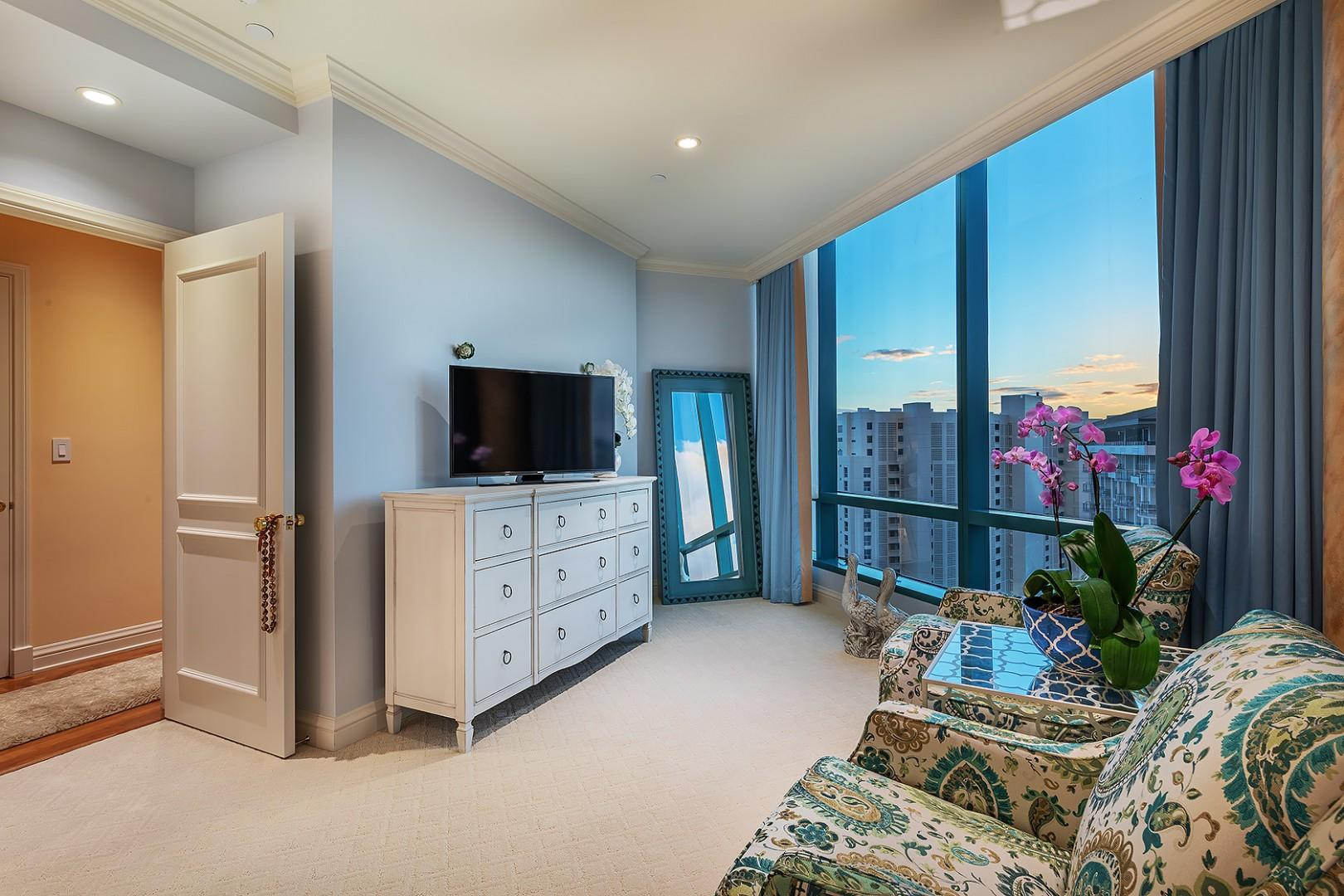 Guest Bedroom with Stunning City Views