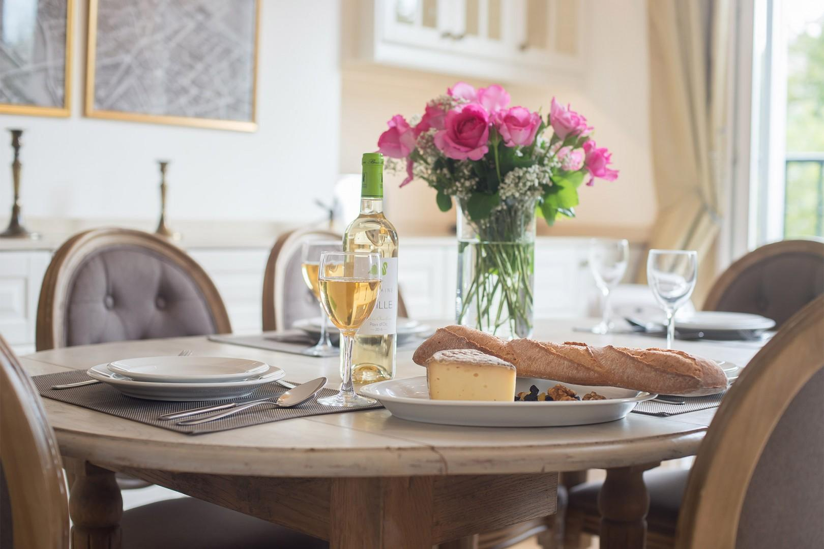Save time and money dining at home.