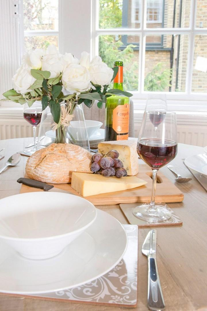 Set the table for a lovely dinner at home!