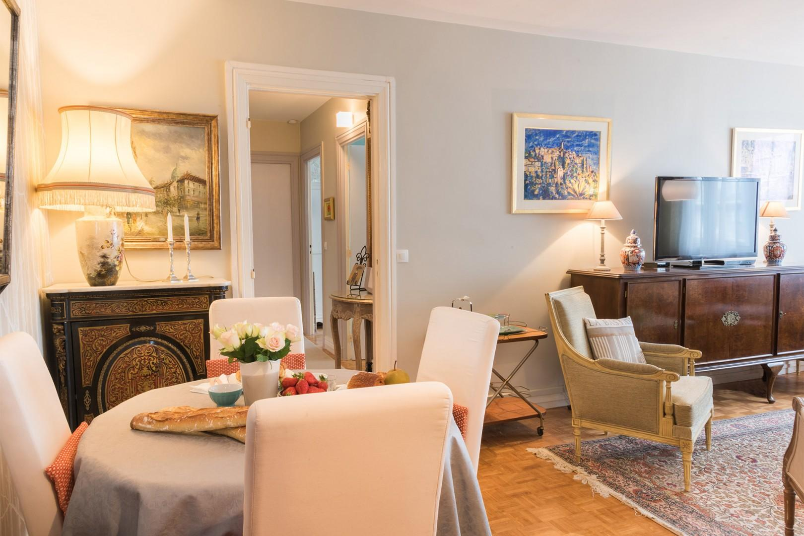 The open-plan living room and dining is perfect for entertaining.