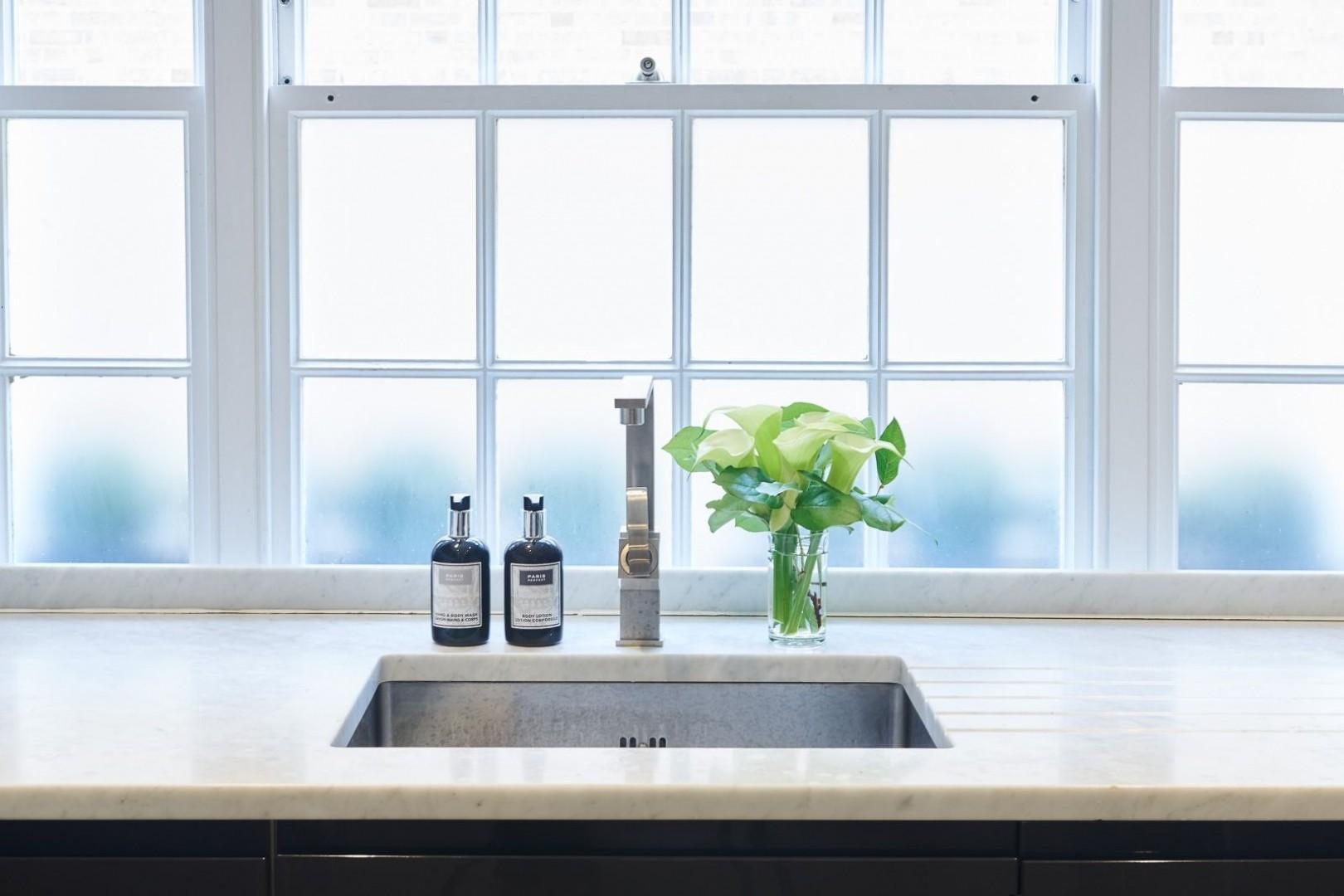 Modern finishes in the kitchen
