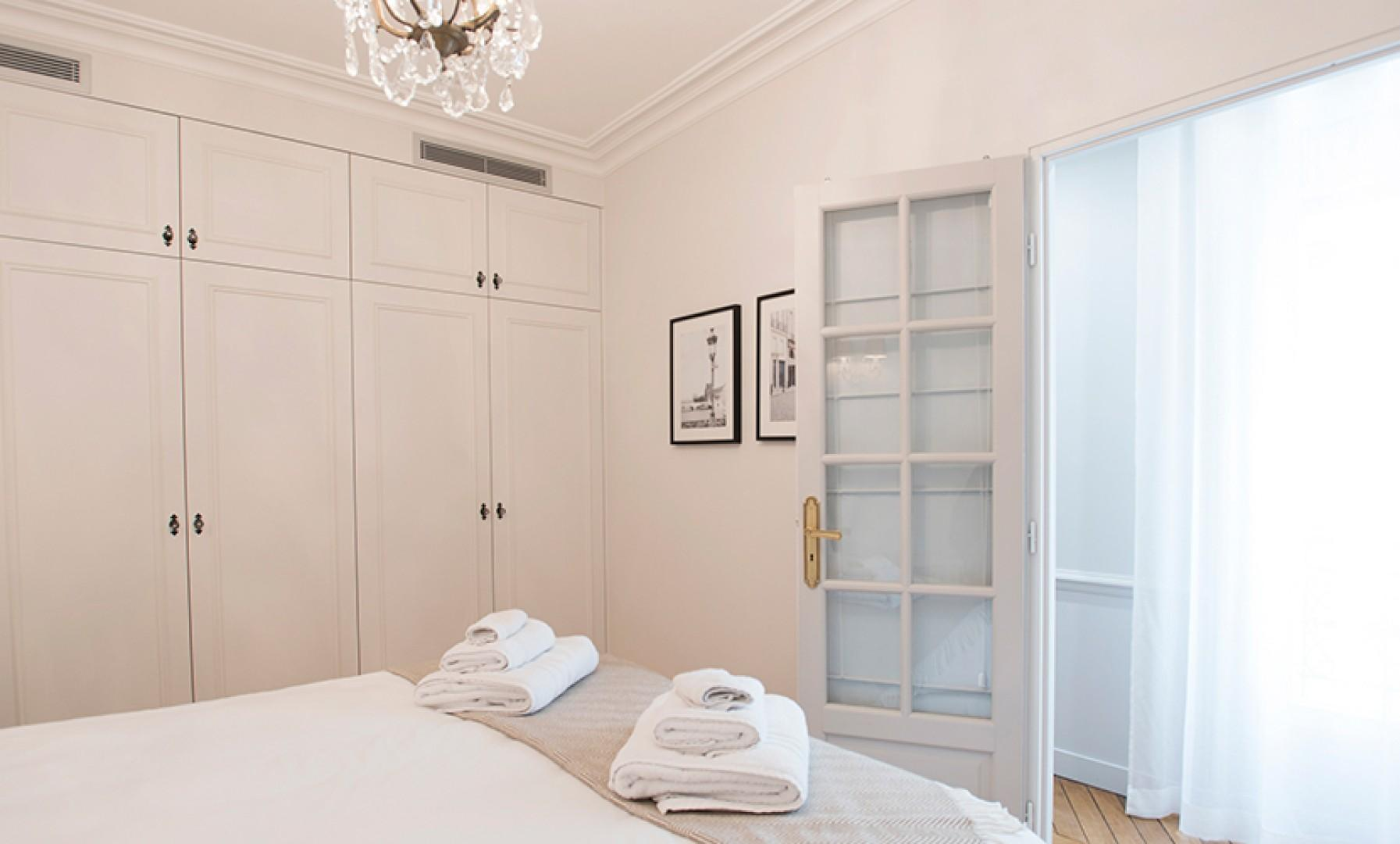 There is plenty of storage in bedroom 1 for all your belongings.