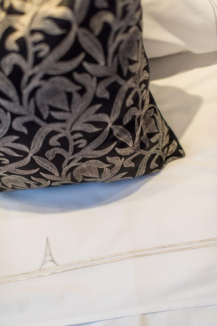 Luxurious Paris Perfect linens on the beds