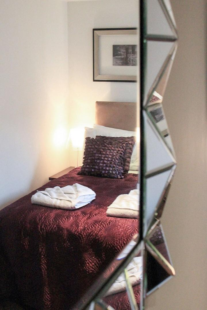 Interesting mirror in the second bedroom