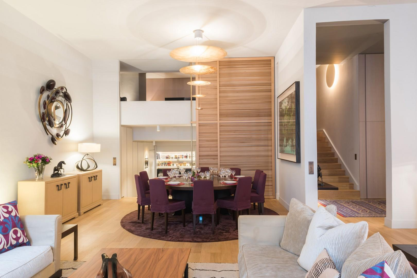 The open-plan living area is perfect for entertaining.