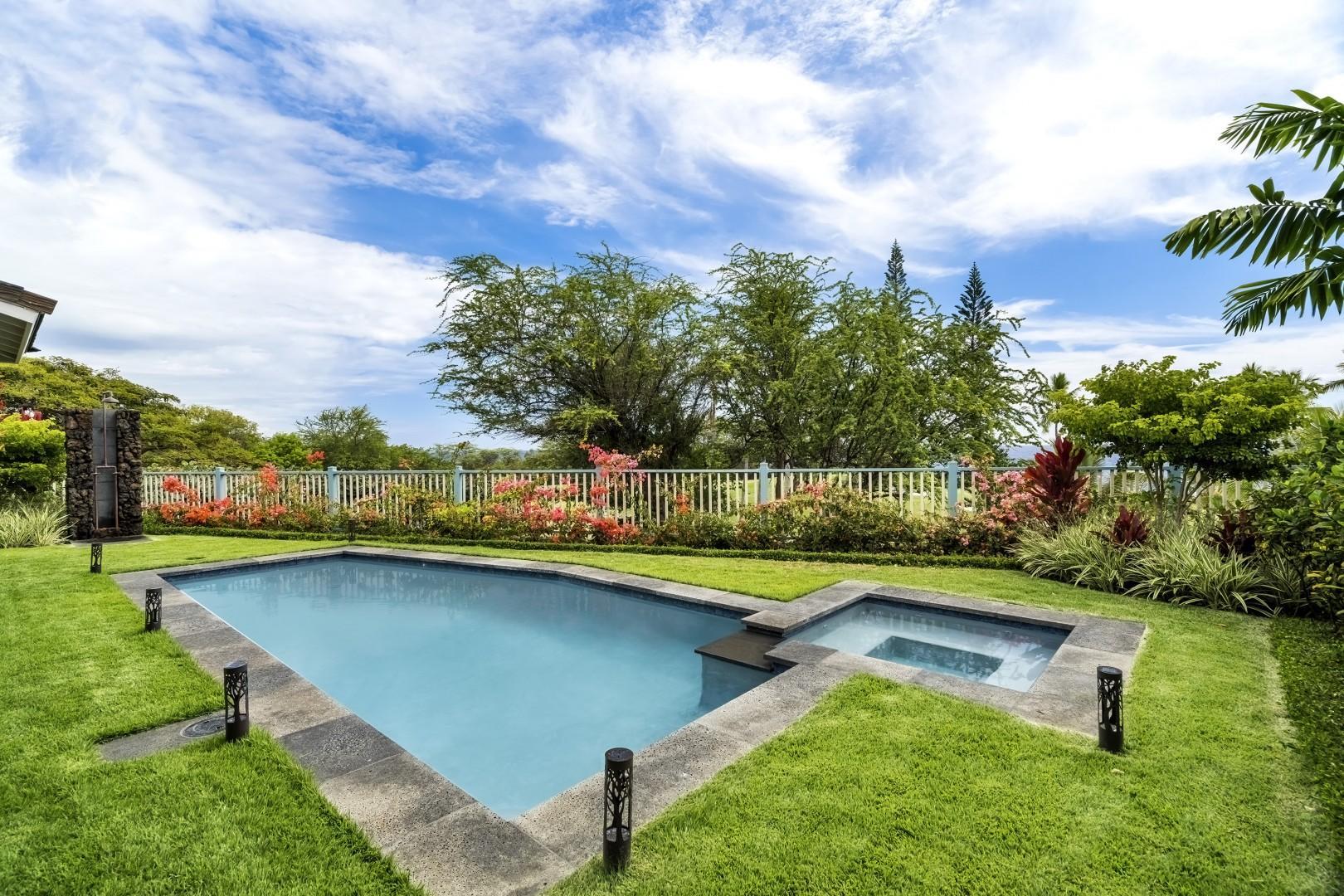 Salt water pool and spa!