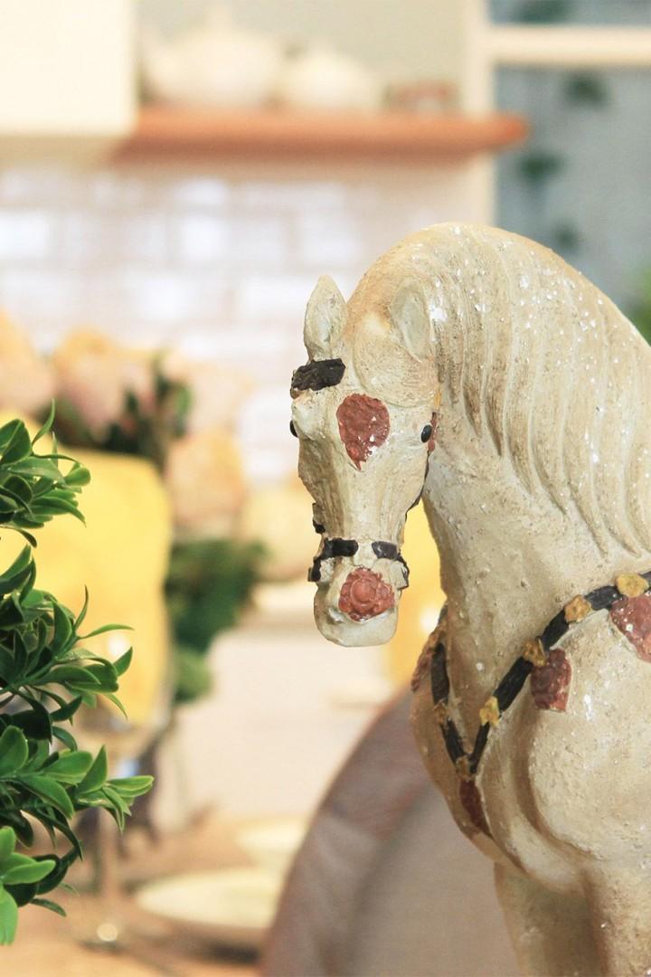 Elegant horse sculpture in the living room