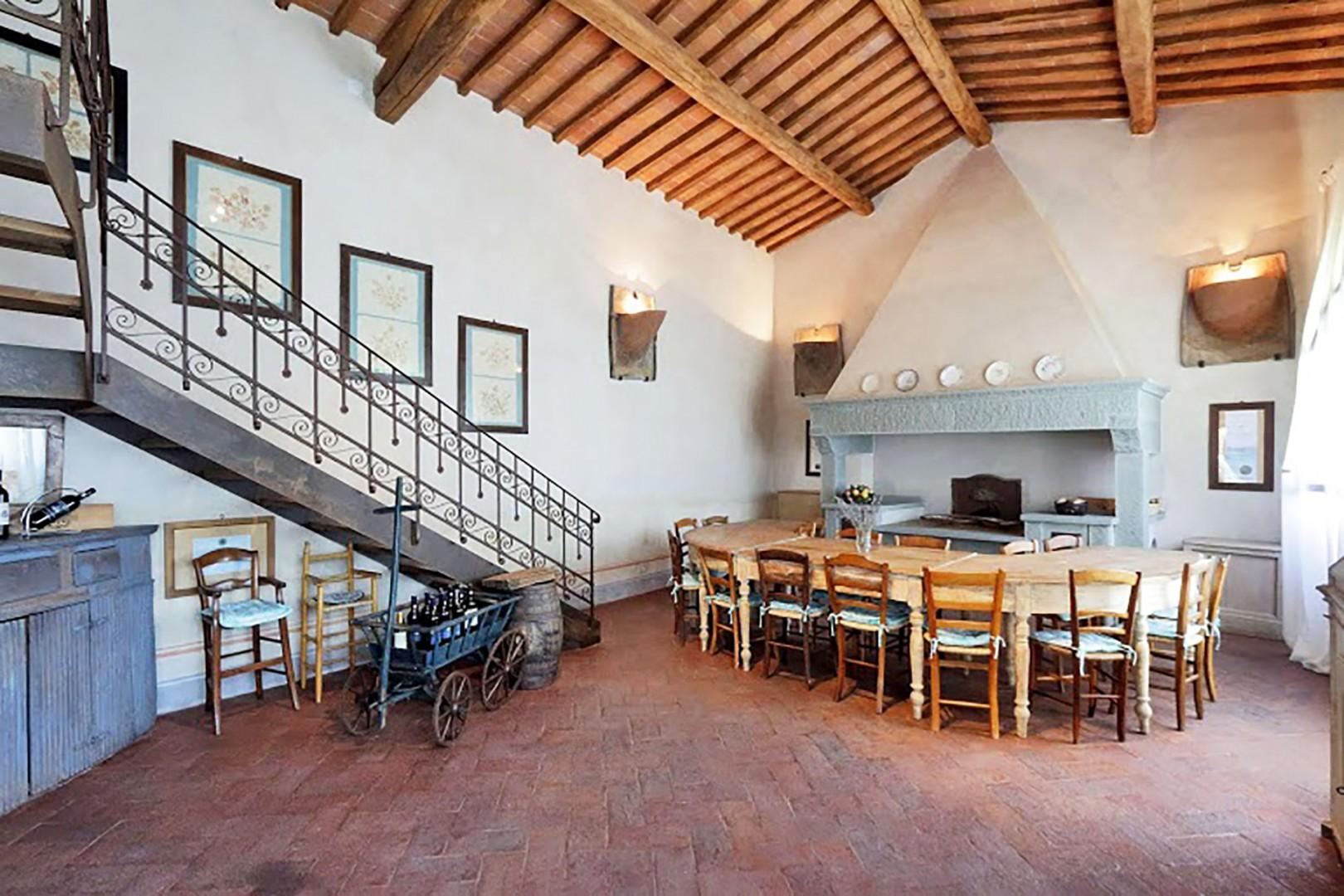 Common room where breakfast is served and wine tastings are held.