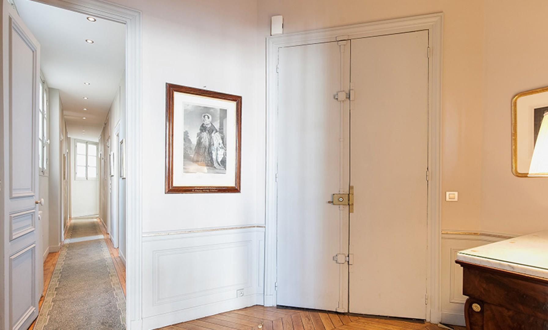 Entryway of our luxury apartment on Paris' Left Bank