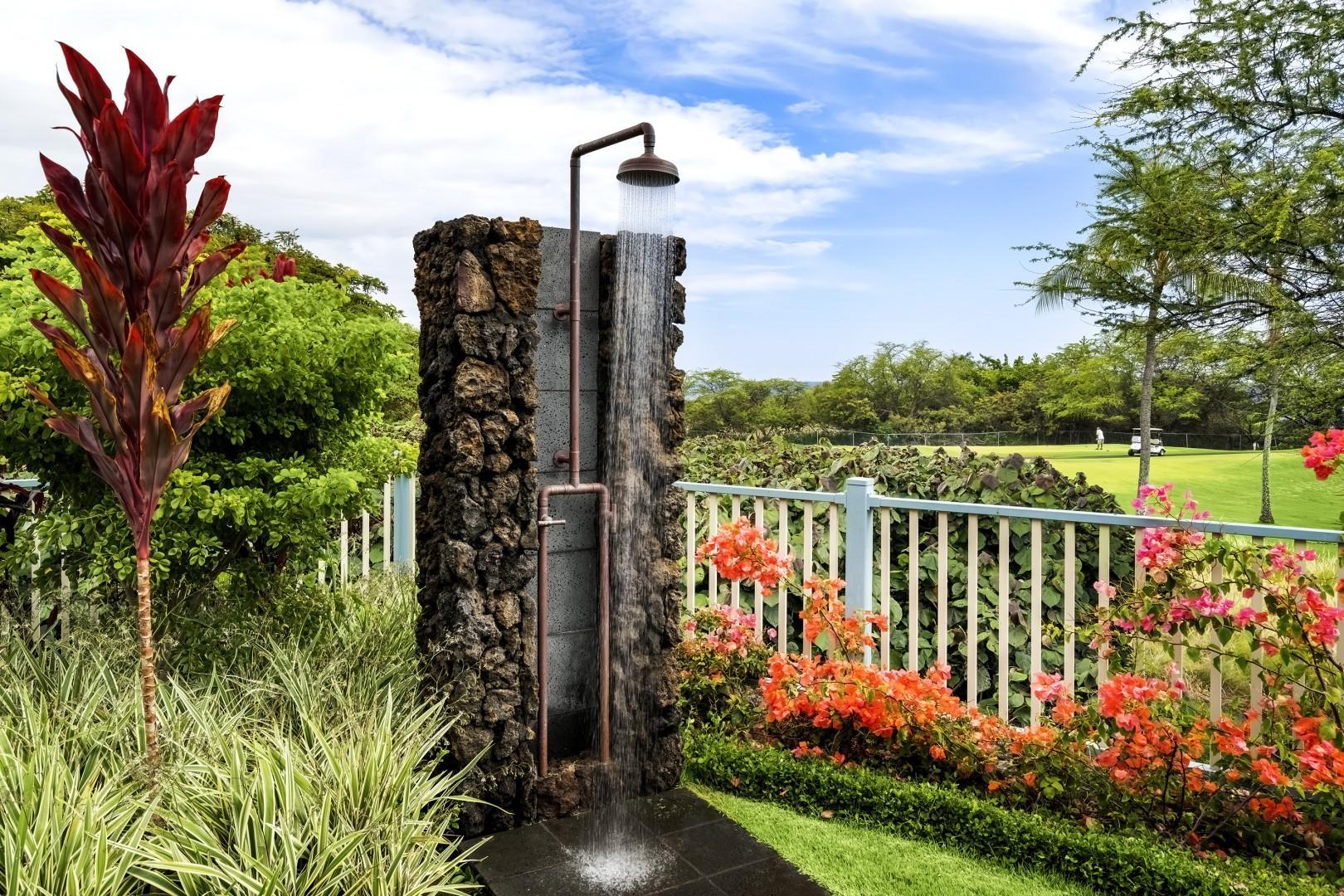Outdoor Shower poolside!