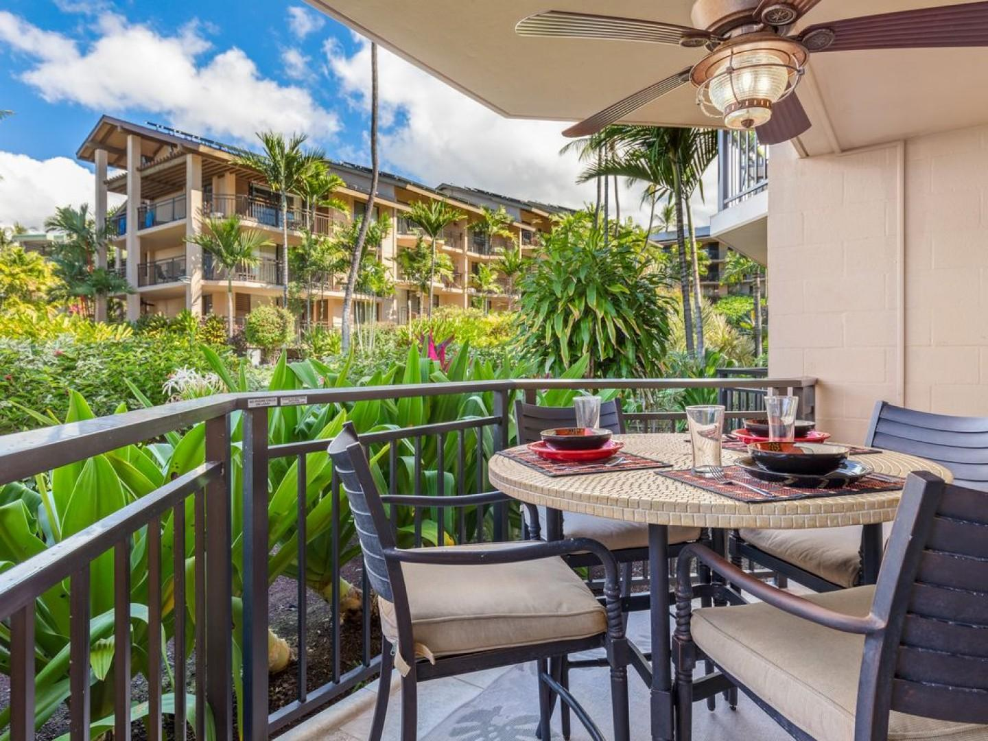 Enjoy the outdoor dining for 4!