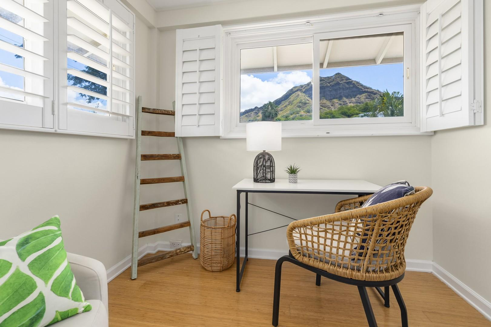 Master Bedroom Desk with Diamond Head views