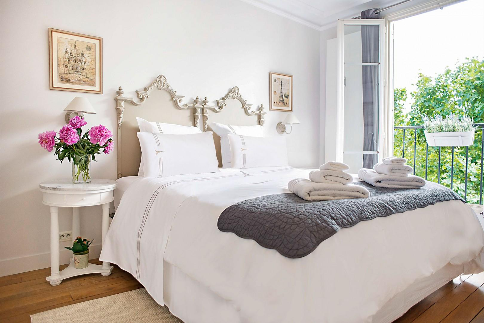 Wake up every morning in this lovely, light-filled bedroom 1.