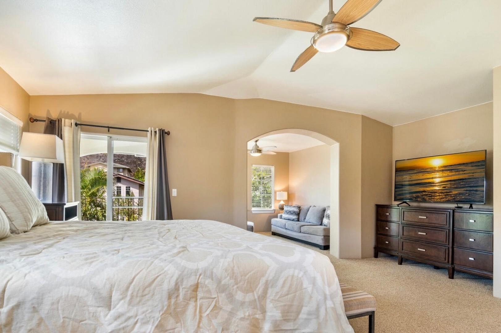 Master with ensuite, lanai, and reading room