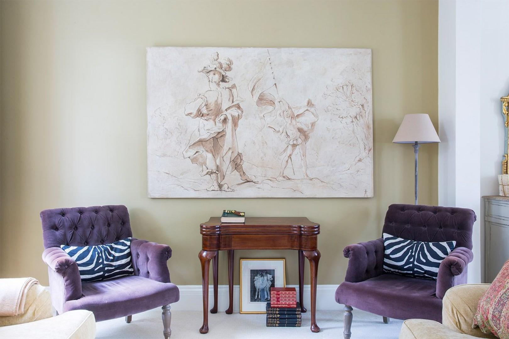 Elegant armchairs in the living room