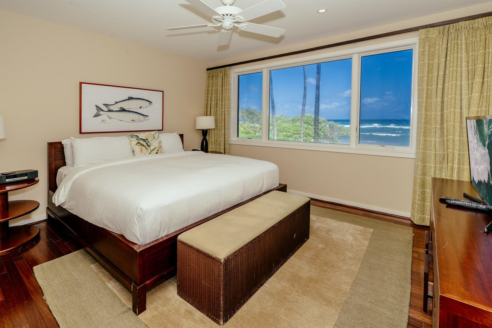 Your spacious master bedroom.