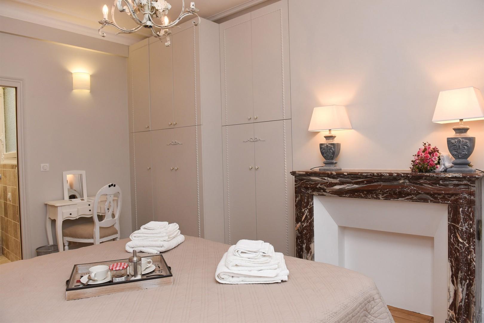 There is an en suite bathroom and plenty of built in storage in bedroom 1.
