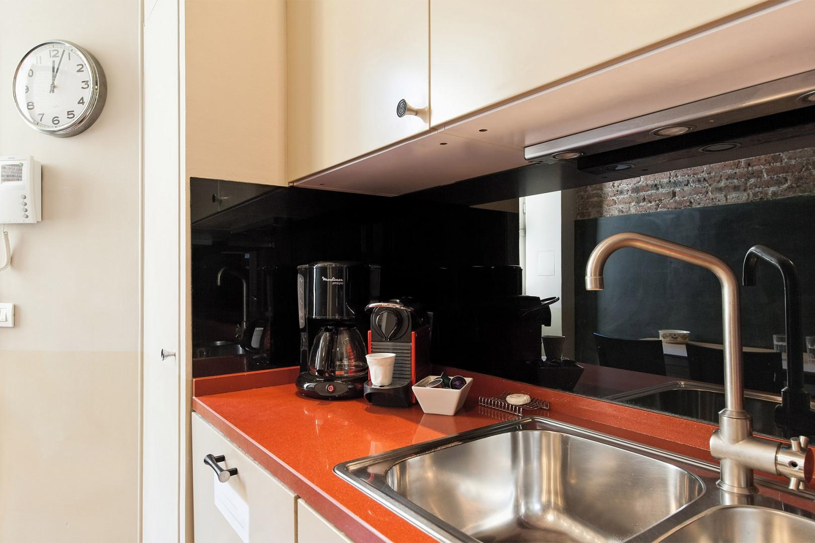 Guests love having a dishwasher and Nespresso maker!