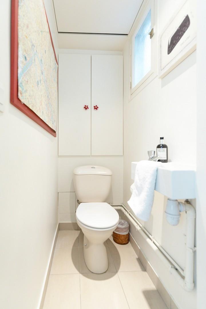 Convenient half bath upstairs next to bedroom 2