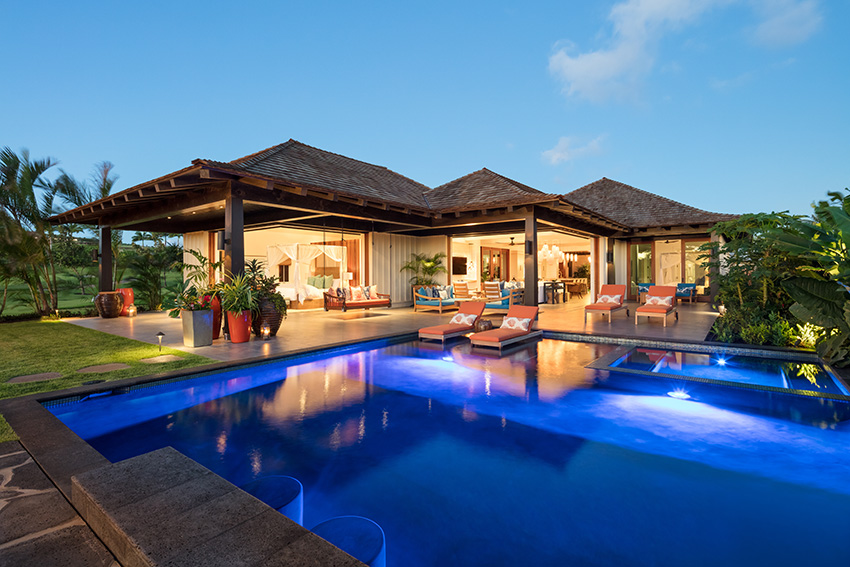 Pool view from Kukuiula Vacation Rental #62 - Kauai vacation Rentals by Alekona