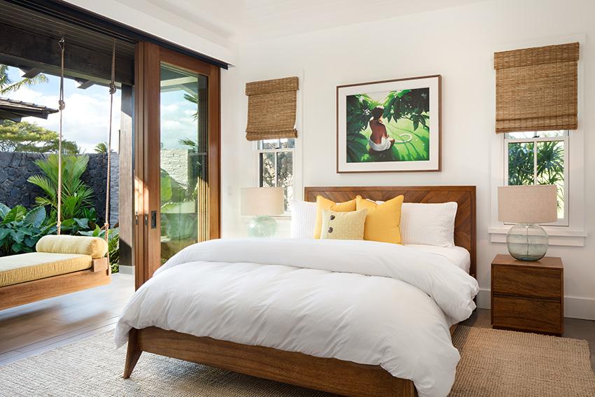 Pocket doors bring the beauty of Kauai inside of the Kukuiula Vacation Rental