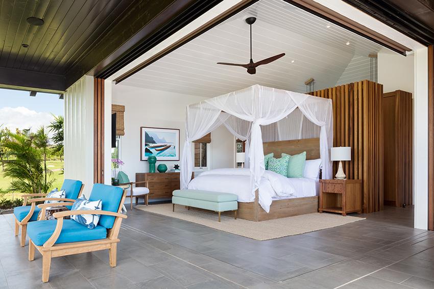 Pocket doors open up the master to stunning views - Kukuiula Vacation Rental #62 - Alekona Kauai Rentals