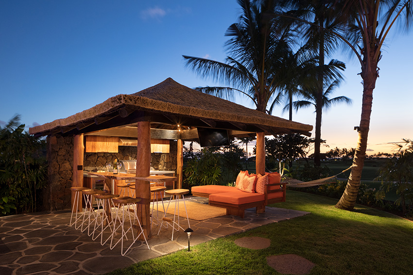 No ready for bed?  Evening cocktails at the cabana are a must at the Kukuiula Vacation rental