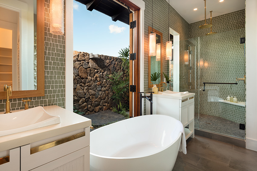 Enjoy the warm Hawaiian winds while you soak in this tub- Kukuiula Vacation Rental #62 - Alekona Kauai Rentals