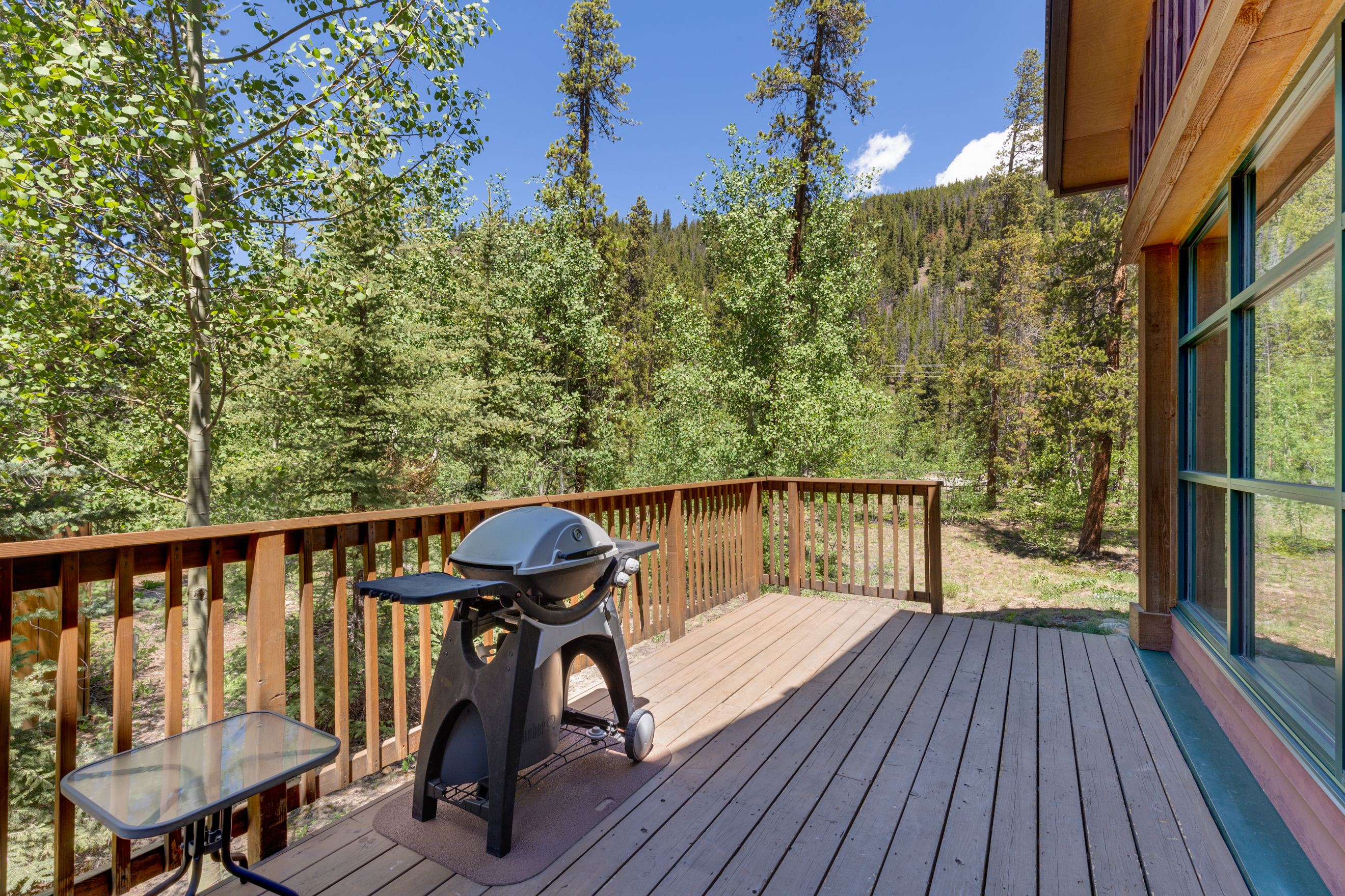 Spacious Private Deck with Beautiful Views (new photo coming soon)
