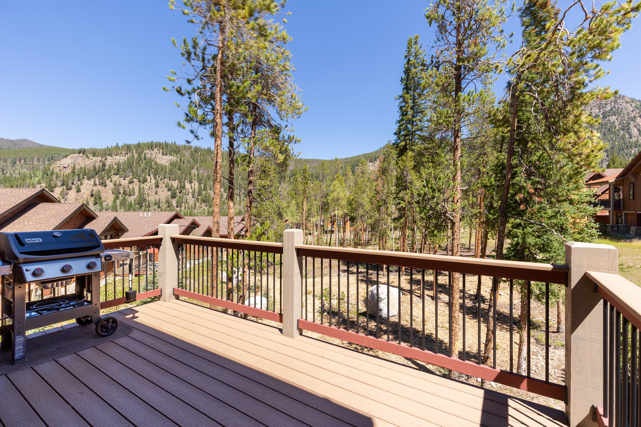 Step out to the large deck and enjoy your morning coffee or prepare a grilled dinner and enjoy it on the deck in the evening.