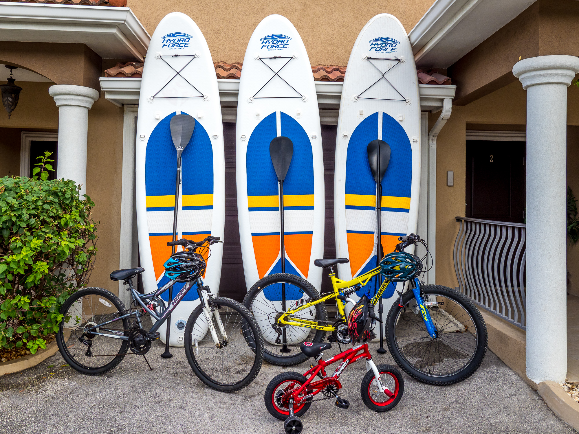 Complimentary SUP's and Bikes