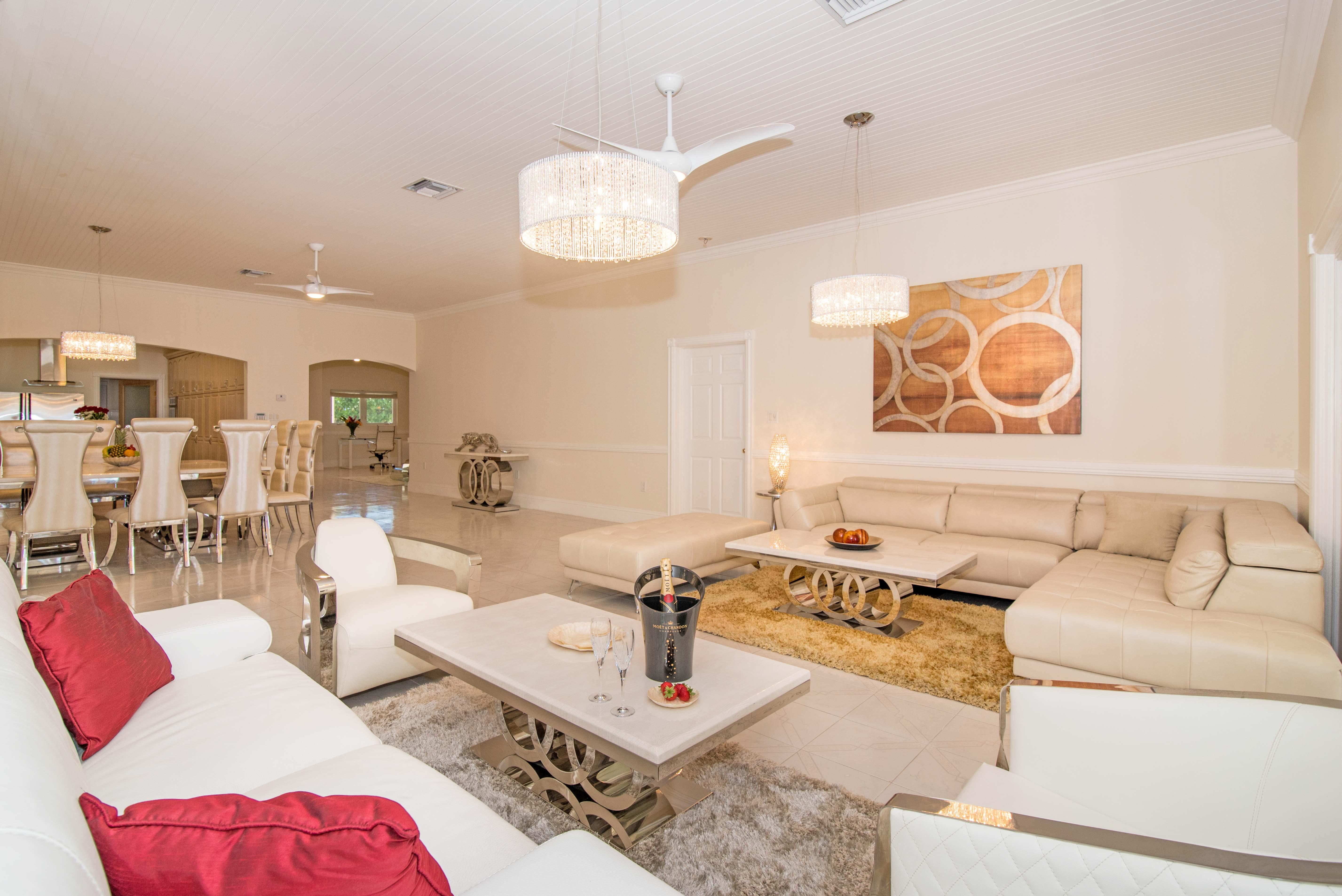 Sprat Bay Oceanfront Living Area