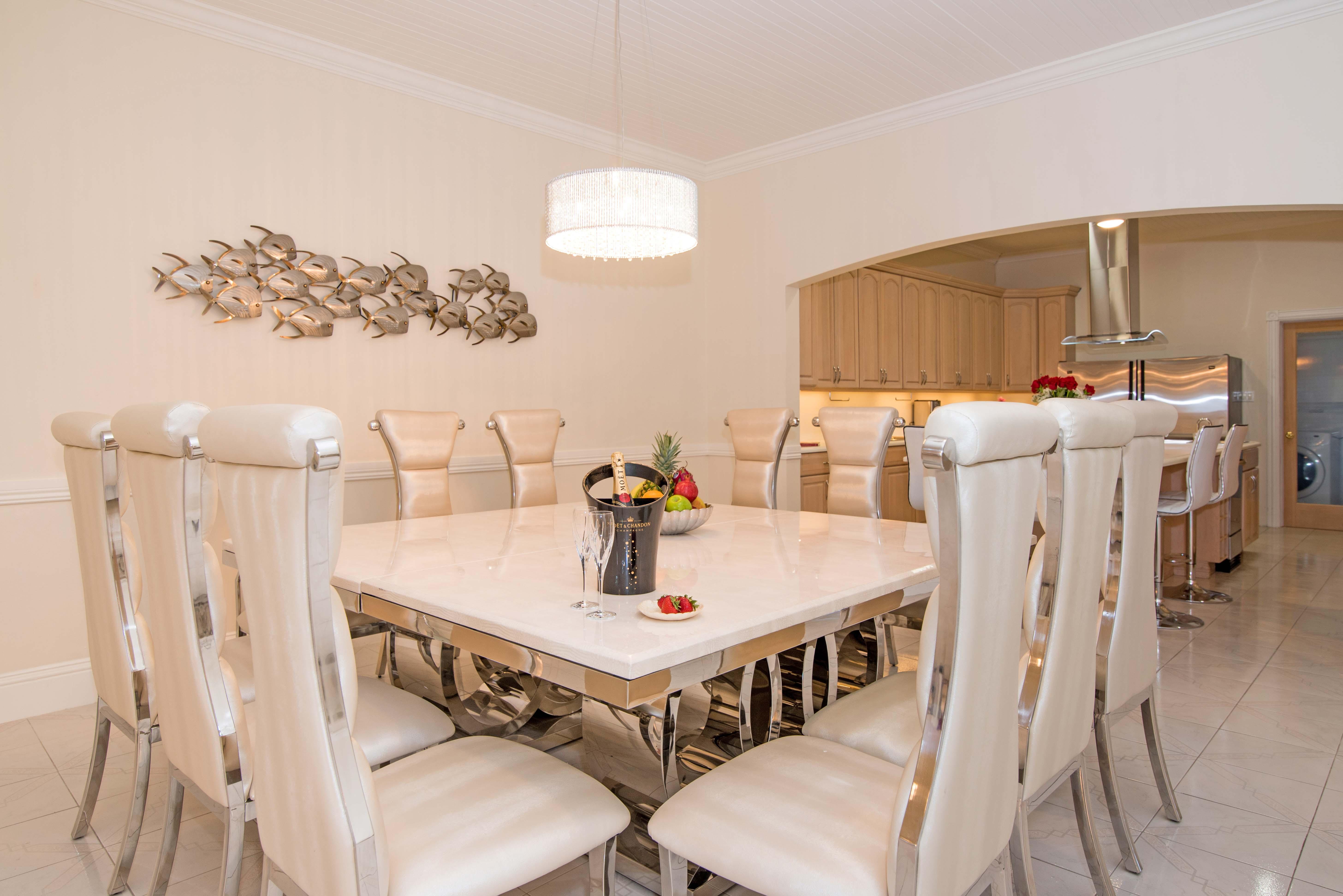 Sprat Bay Oceanfront Dining Area