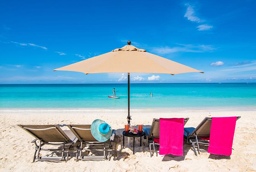 Regal Beach Club Loungers and Umbrellas